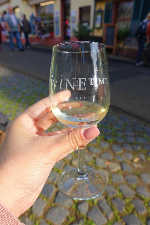 riesling wine in rudhesheim