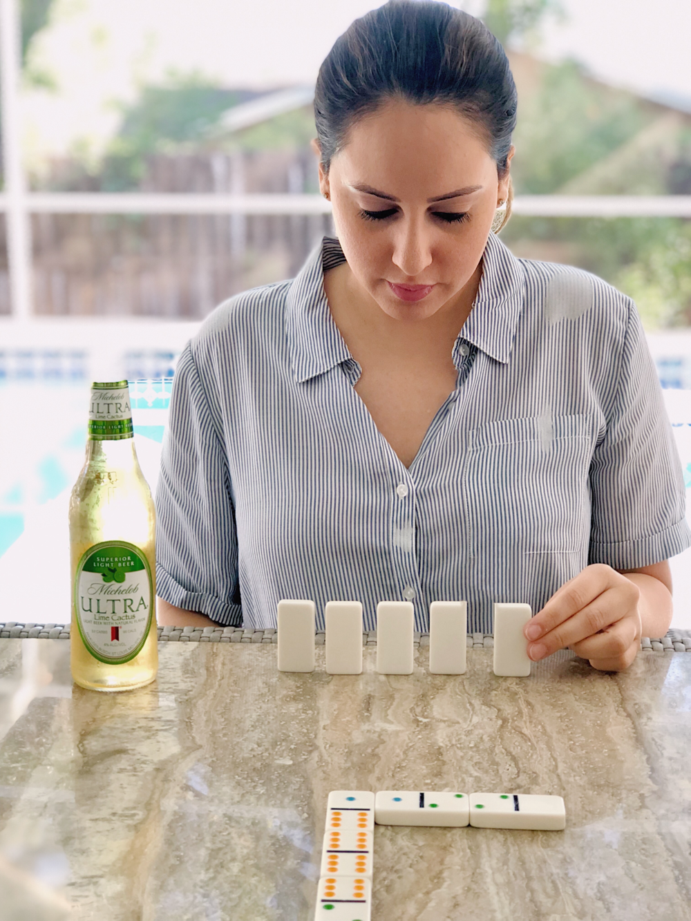 Dominoes with Michelob Ultra Lime