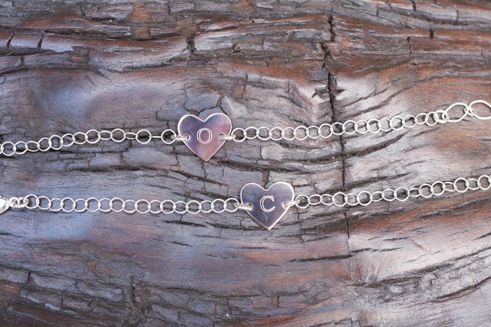 Kim Bennet Flower Girl Bracelets RG Heart Pendant SS Chain_02.jpg