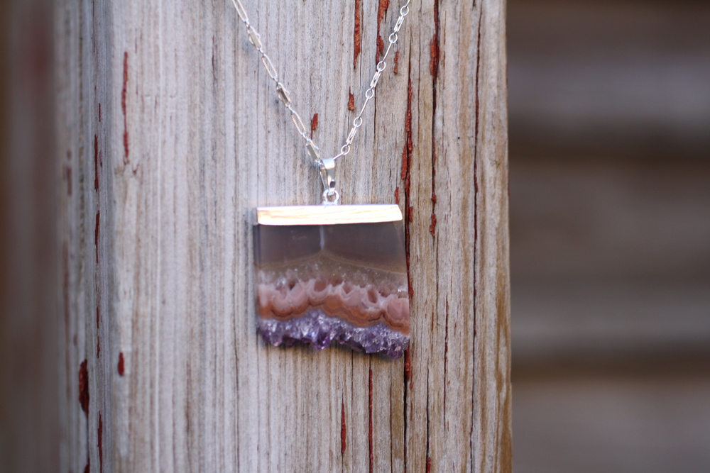 Amethyst Rectangle Druzy SS Vintage Inspired Chain Necklace_06.JPG