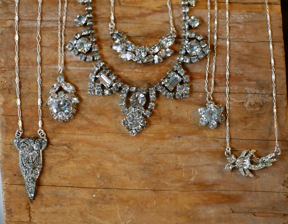Mindy Bohmer VCON & Vintage Bridesmaids Flower Girl Necklaces Something Blue Earrings_15.JPG