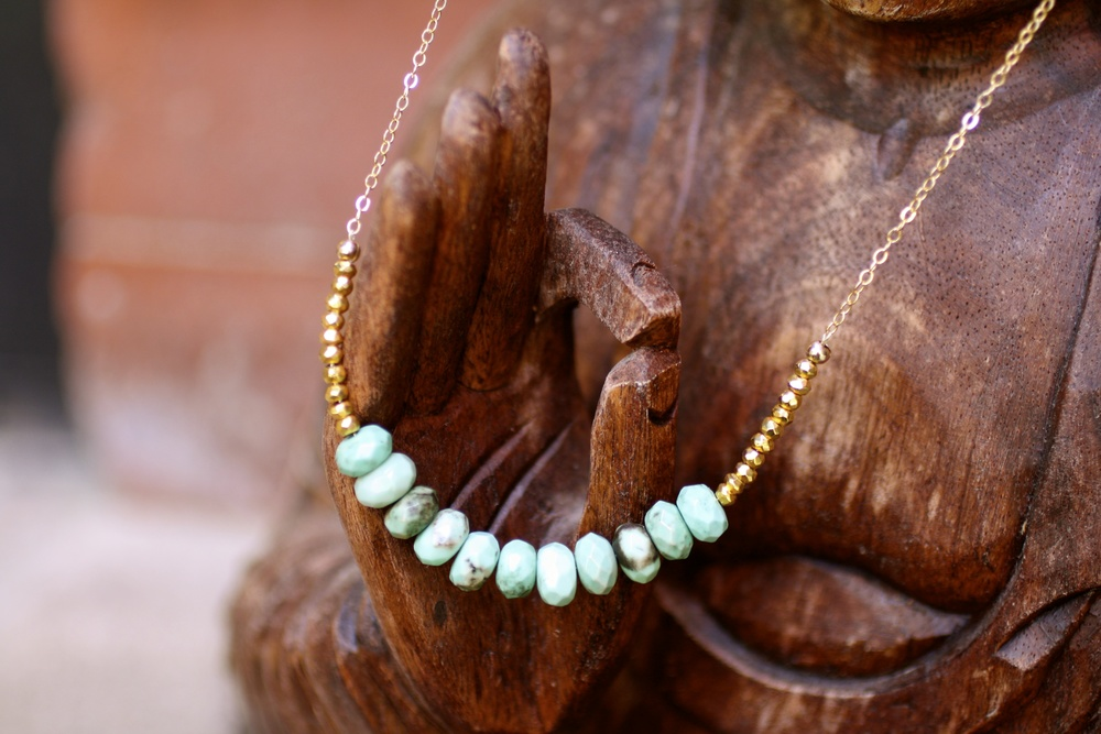 "Chrysoprase ""Across the Universe"" Necklace"