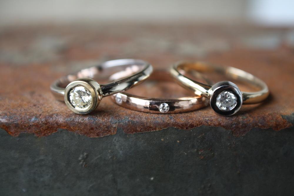 Laura Cerqua Custom Various Diamond Rings - White Gold, Yellow Gold, Rose Gold, Hammered Rings_12.JPG