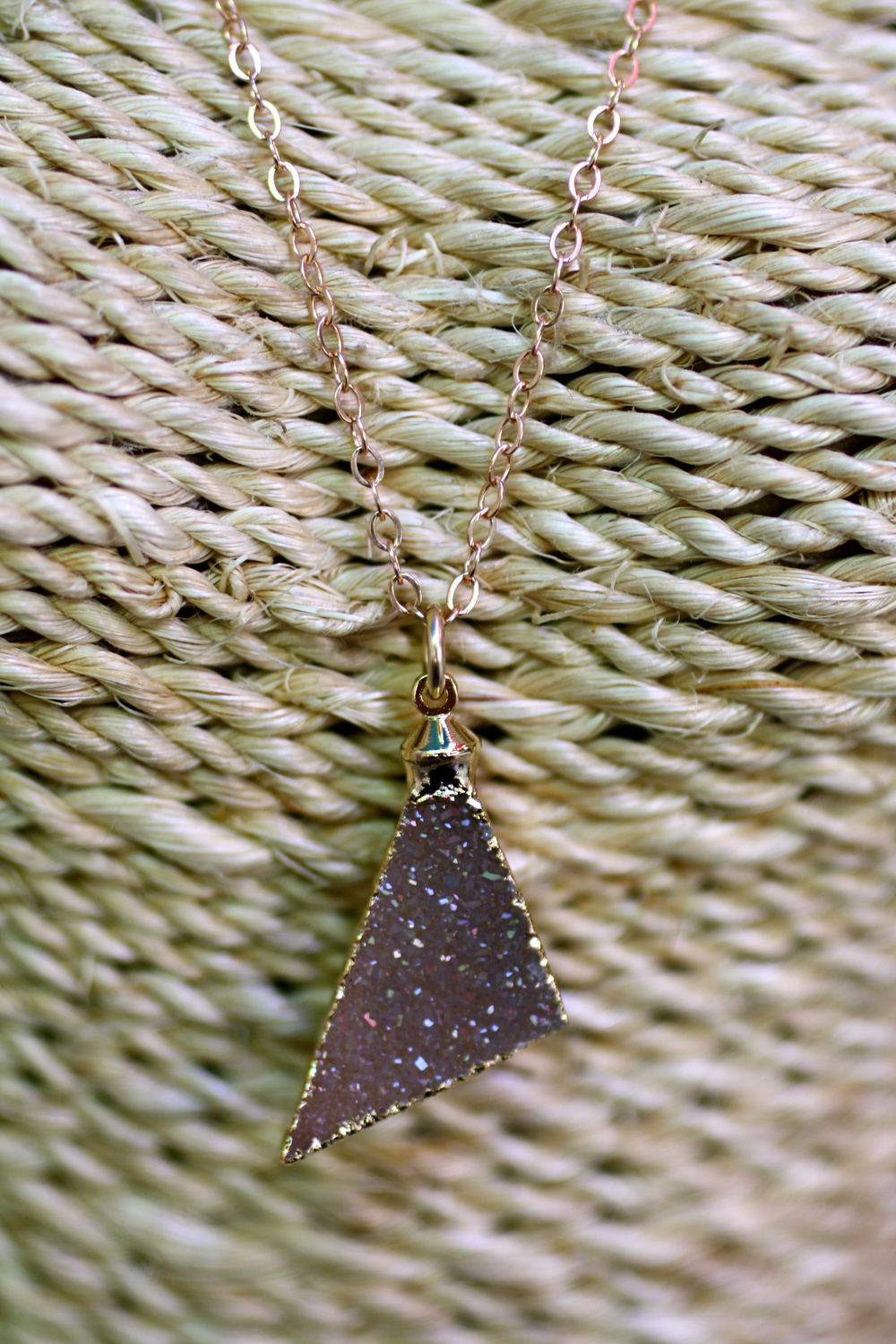 Brittany Bitch Triangle Pink Purple Druzy RGF Chain Necklace_07.jpg