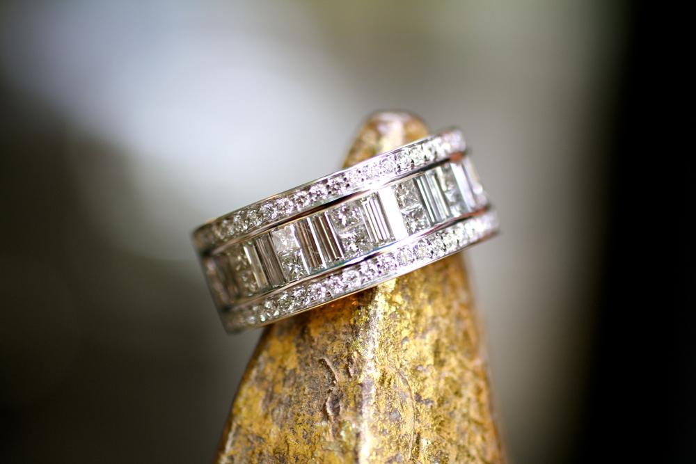 Sal & Kristine - Emerald Square Round White Diamond - WG Ring_02.JPG