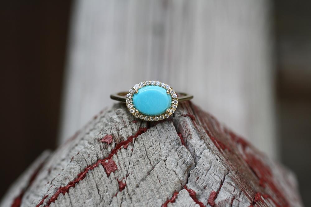 Carol Ward - Turquoise Diamond YG - Custom Ring_10.JPG