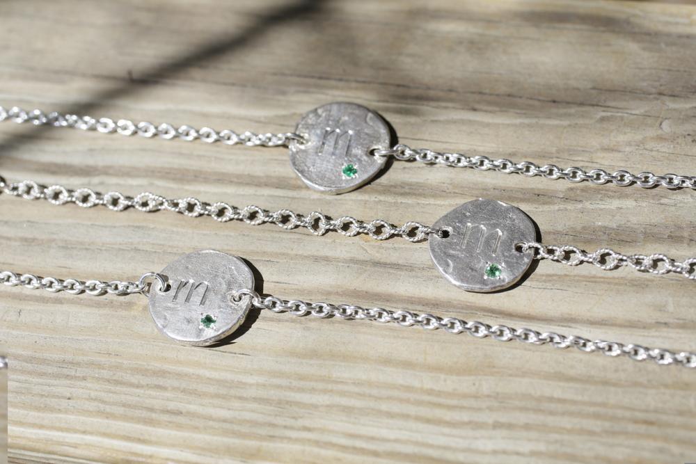 Kathleen Cahill Custom SS w Emerald Engraved Bracelet_02.JPG