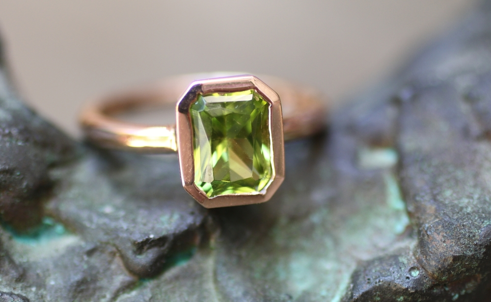 Brian & Leslie - Radiant Rectangle Cut Peridot RG - Push Present - Custom Ring_31.JPG