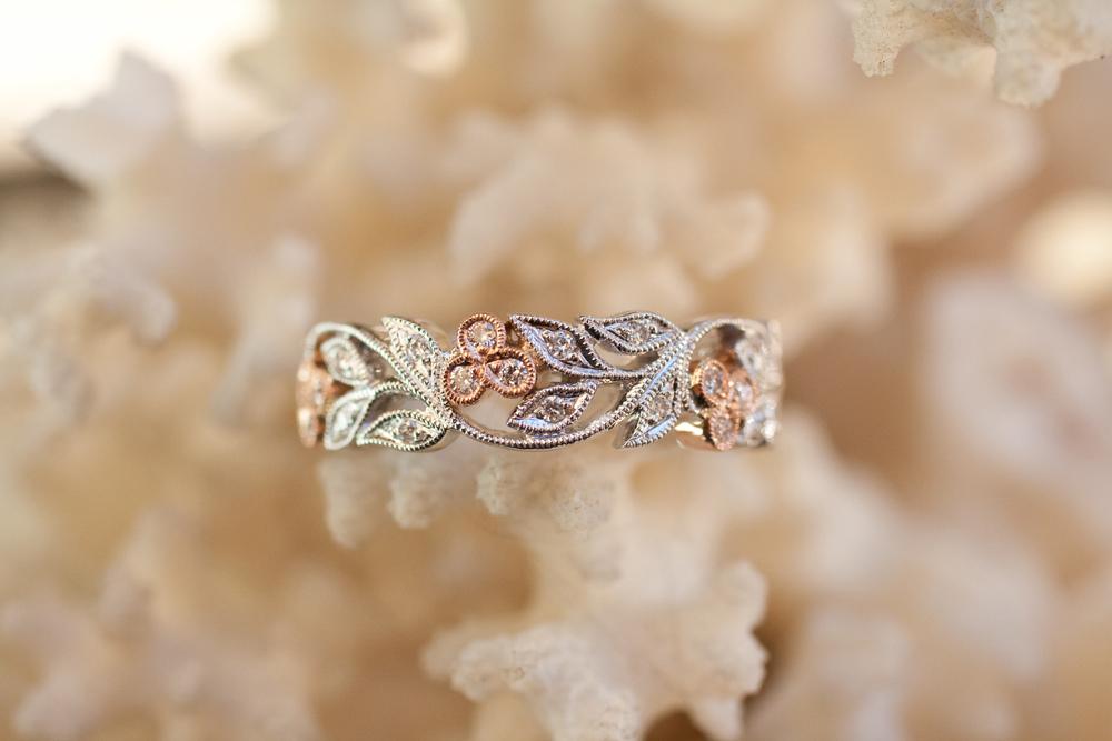 Danni & Carl - RG WG Filligree w Diamonds Custom Engagement Ring_06.jpg