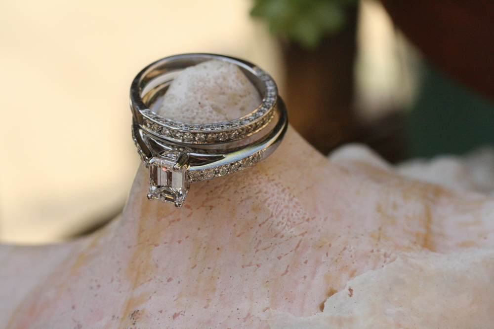 Emerald Cut Diamond Ring with Side Pave Diamonds and Band_37.JPG