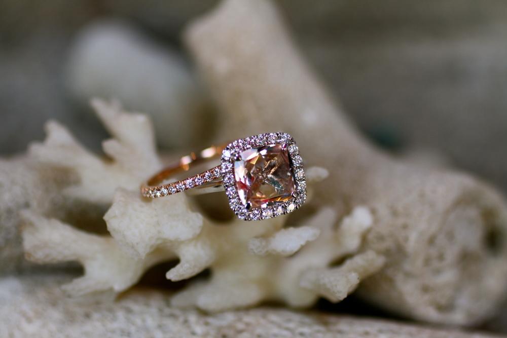 Lauren & Doug - Peach Morganite Diamond WG Diamond RG Wedding Bands Engagement Ring_09.JPG