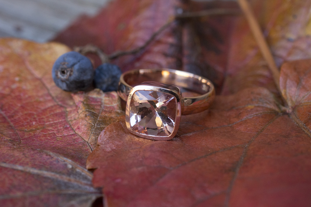 Lucy and Michael Morganite Ring Set in Gold Bezel_33.jpg