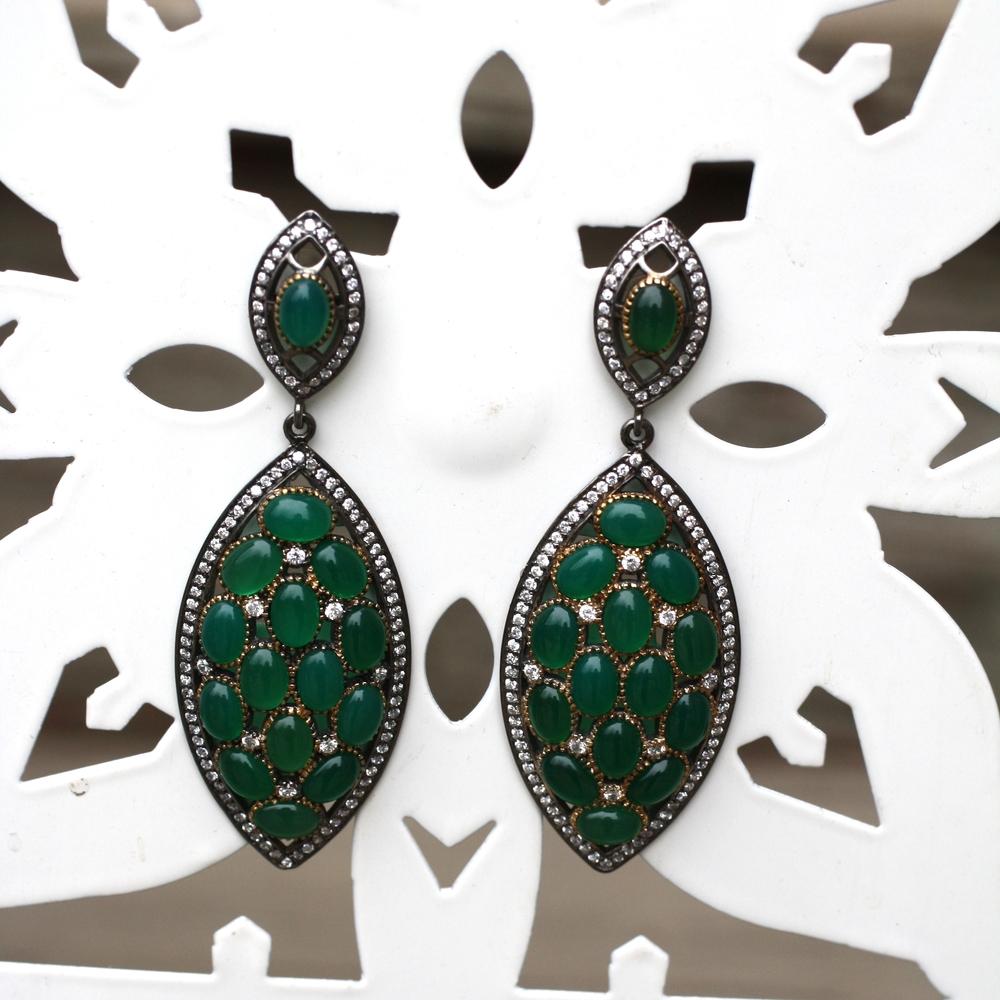 Green Onyx Swarovski OXSS Real Housewives Earrings_05.JPG
