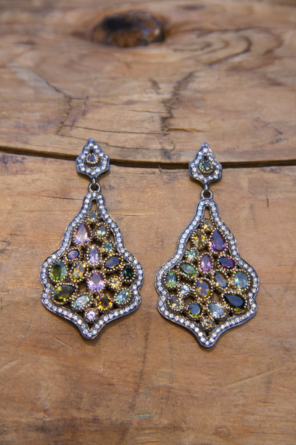 Multicolor Tourmaline Swarovski SS Real Housewives Earrings_10.jpg