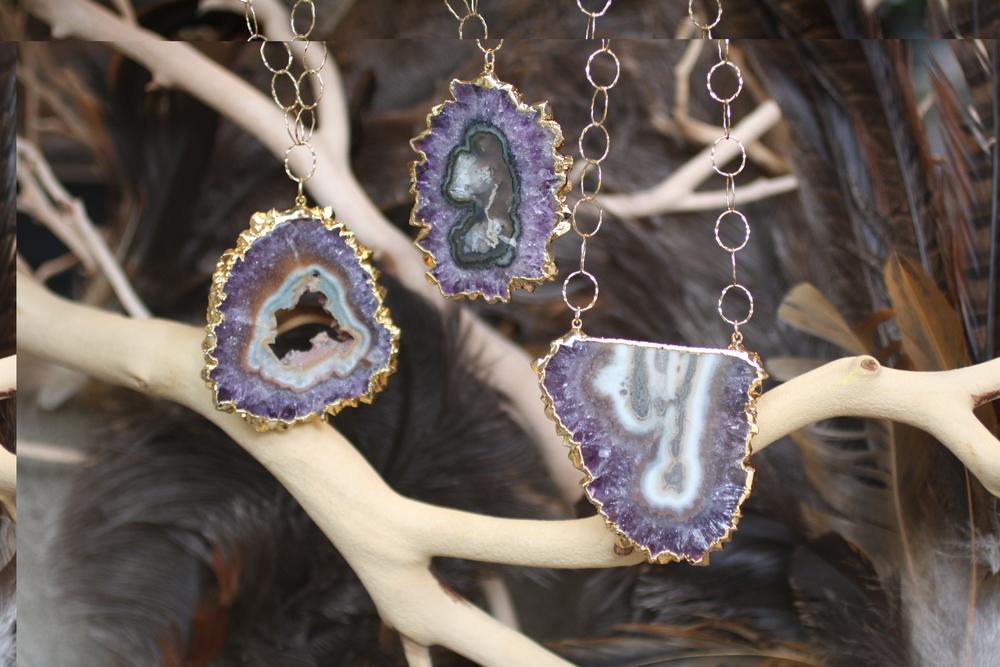 Grey Purple Cave Geode Chain Neckalce_24.JPG
