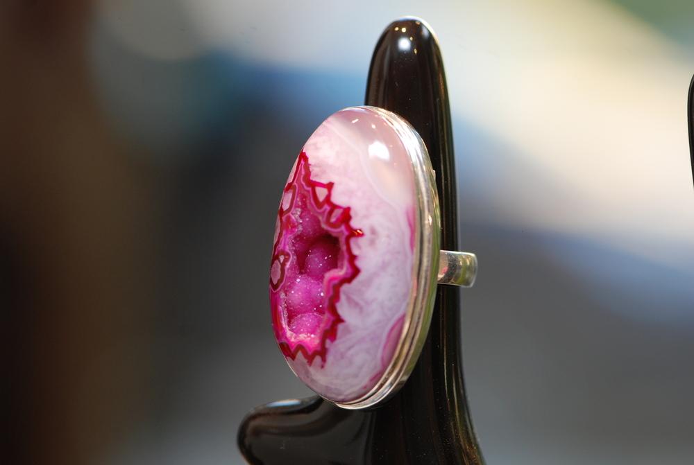 Pink Cave Druzy SS Ring_01.JPG