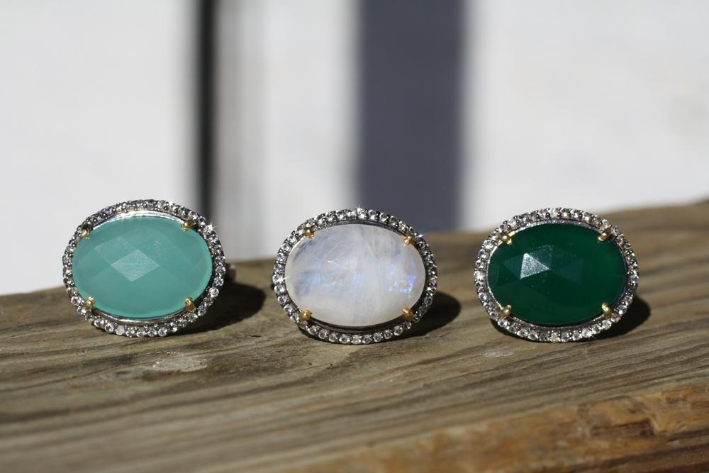 Green Onyx Moonstone Aqua Chalcedony EW Halo Ring_07.JPG