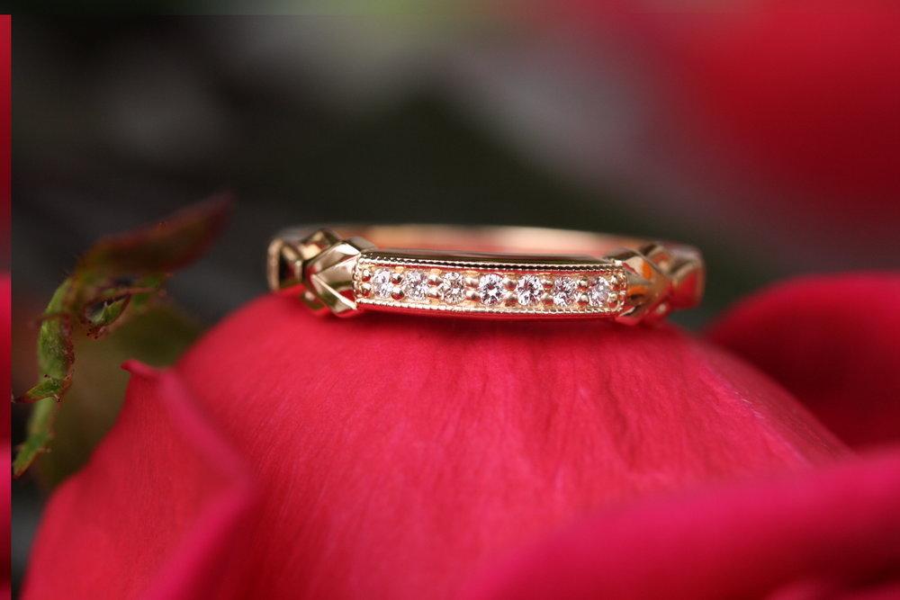 Melissa Gambino Custom Ring Based on Vintage Ring YG Diamonds_11.JPG