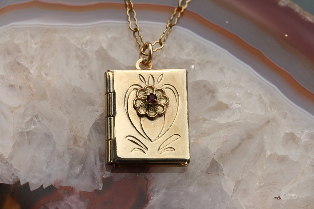 Book Locket with Garnet Floral Design_04 copy.JPG
