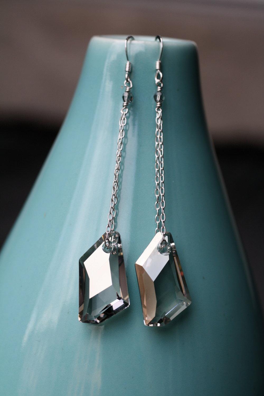 Applause Silver Avantegard Swarovski Crystal Double SS Chain_01.jpg