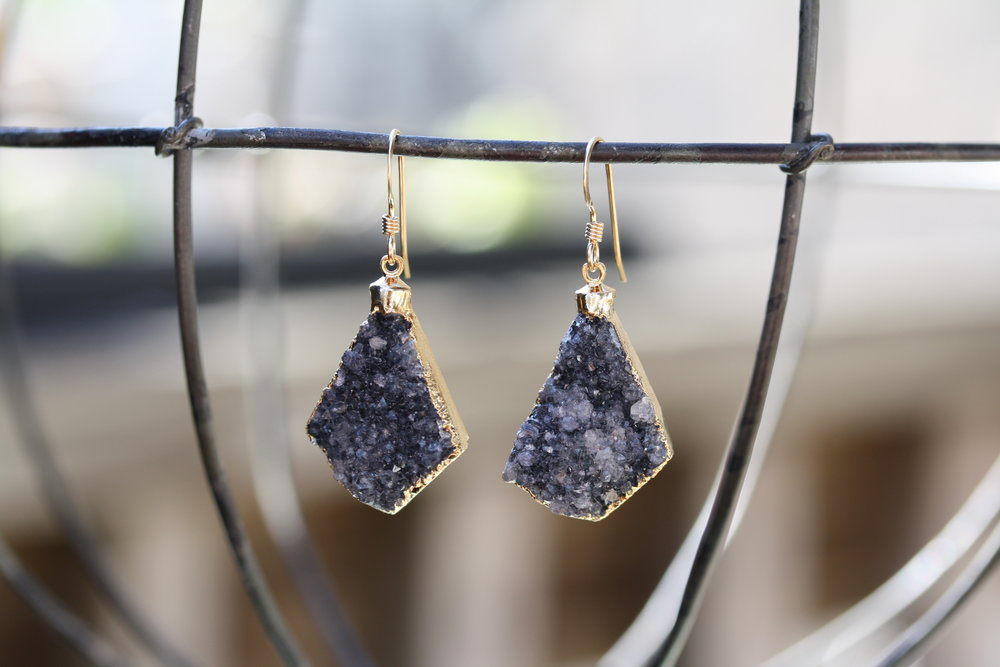 Brittany Bitch Dark Purple Druzy Earrings_01 copy.JPG