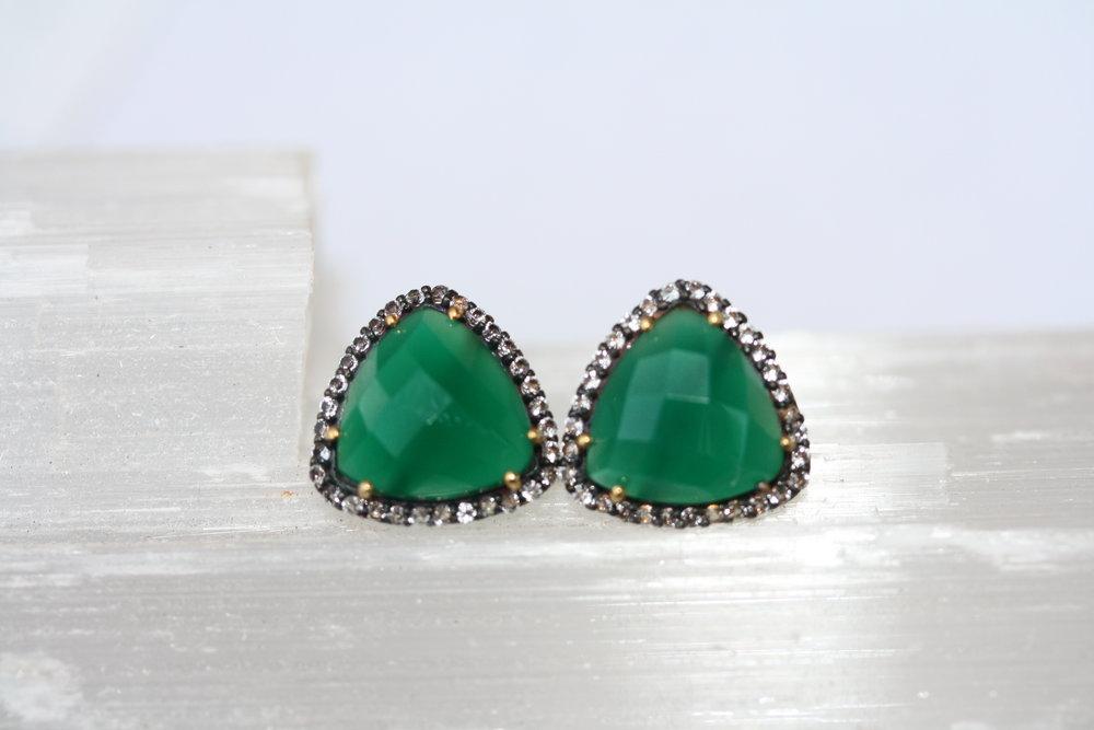 Lucy in the Sky Stud Green Onyx Earrings02 copy.JPG