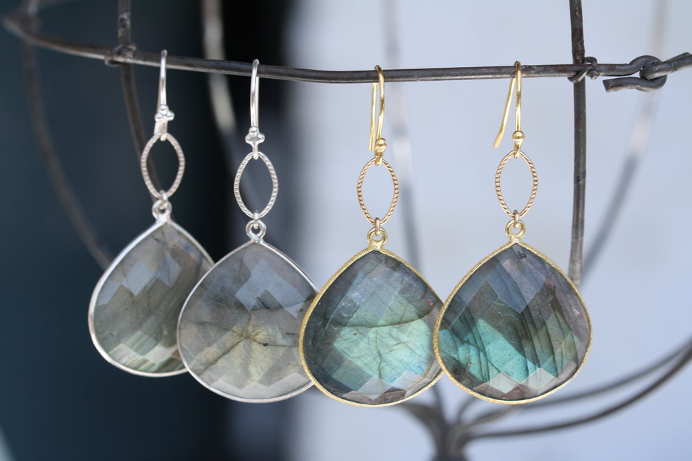 Labradorite Almond Drop Earrings Gold and Silver01 copy.JPG