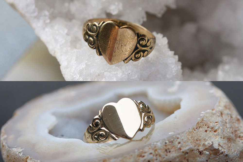 Vintage Heart Engraved Ring Polish Before & After.jpg