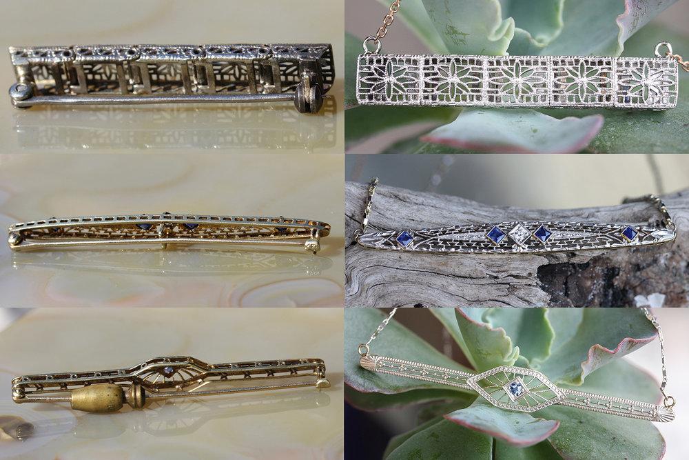 Vintage Converted Filigree Pins Before & After.jpg