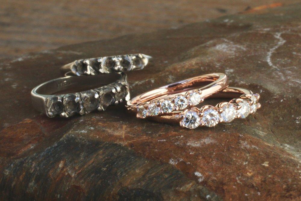 Samantha Nham Custom Rose Gold Diamond Bands_02.JPG