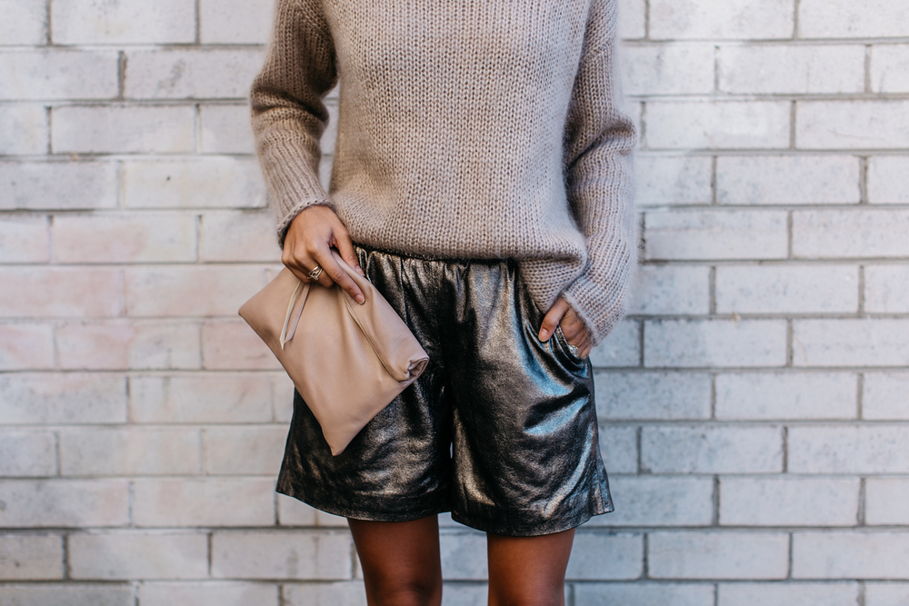 Jumper (Jac and Jack) Similar (here, here, here) Shorts (Muubaa) Similar (here, here, here) Bag (Karmme) Necklace (Samantha Wills)