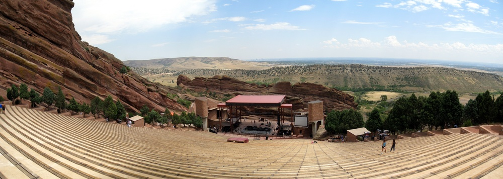 Red Rocks Amphitheater just outside of Denver