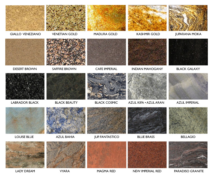 Check out this short list of granite options!
