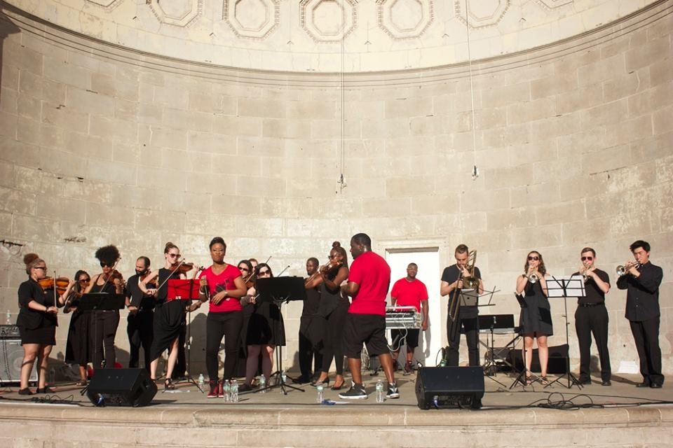 Illharmonic Orchestra in Central Park's Naumburg Orchestra Shell - July 2015