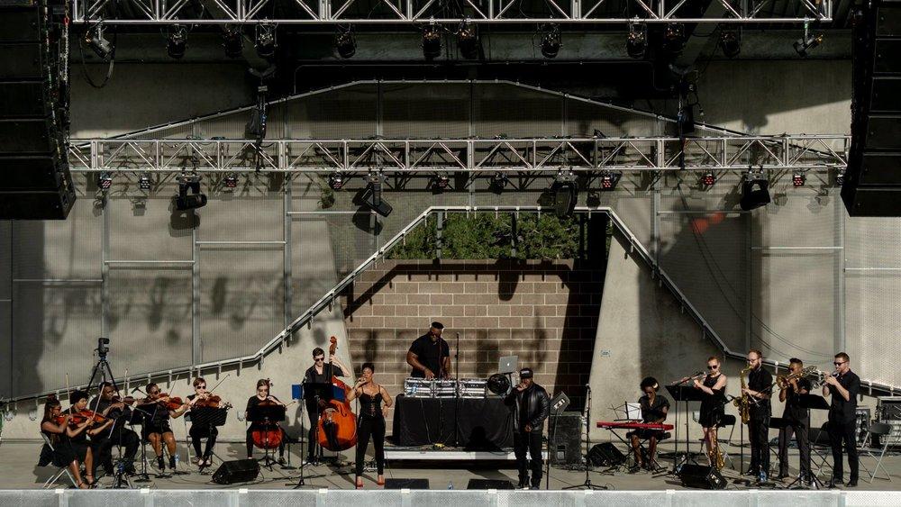 Illharmonic Orchestra at Levitt Pavilion Denver in 2018.
