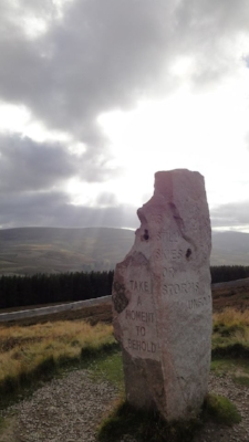 The road to Braemar, where Angela met Leonora