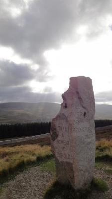 The road to Braemar, where Angela met Leonora