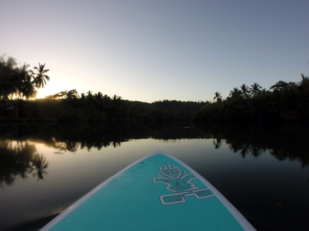 The ultimate relaxation - SUP yoga on the river