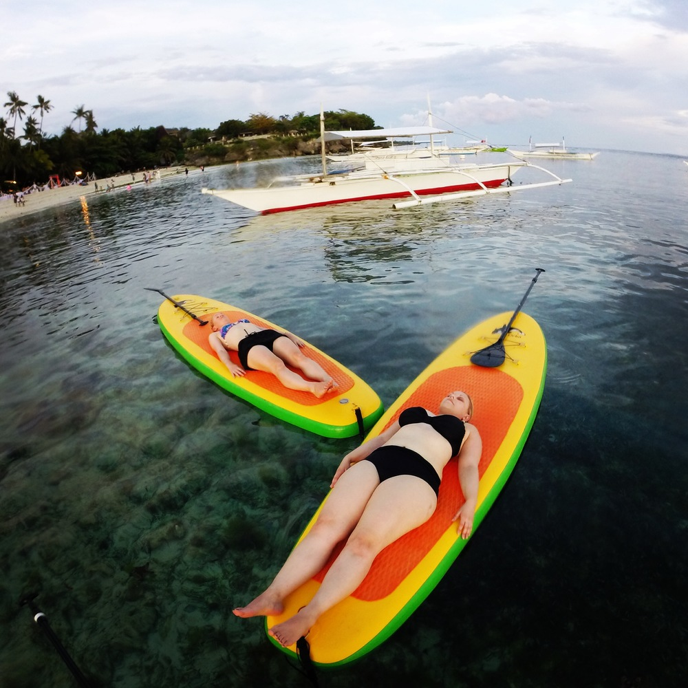 sup yoga bohol alona beach