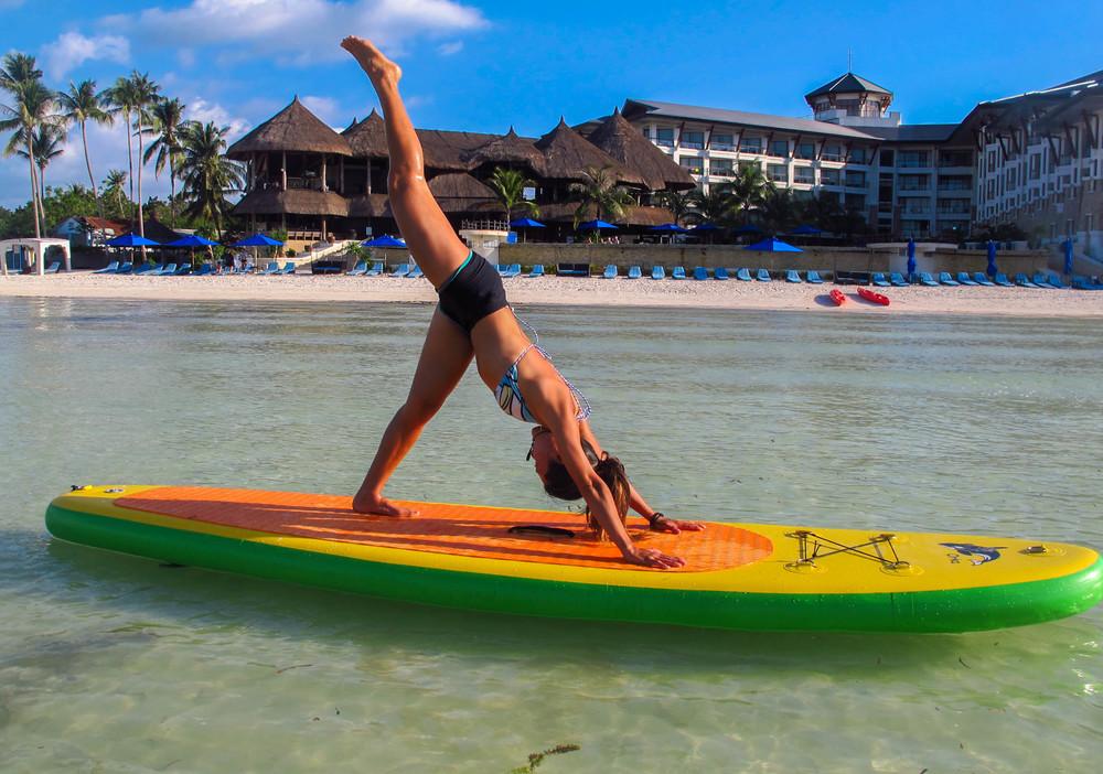 sup yoga bohol alona beach