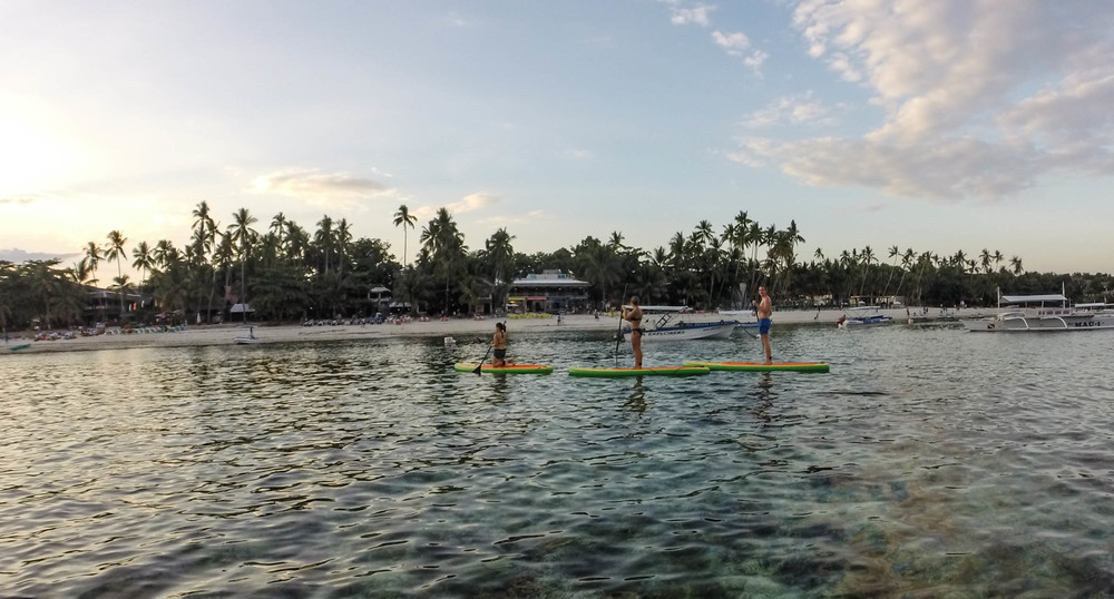 sup yoga bohol alona beach philippines