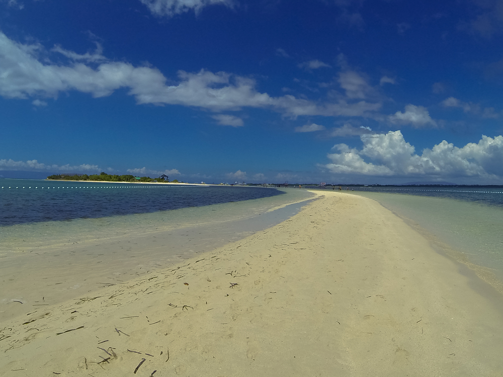 Pristine sand bar of Virgin island