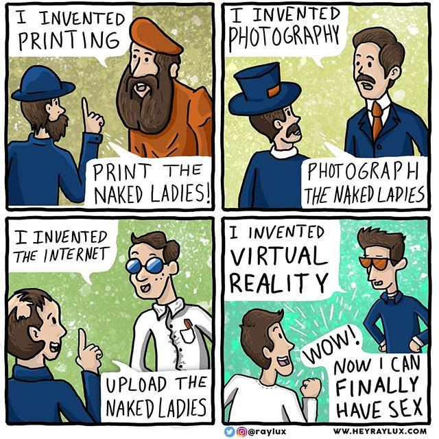 A short history of image sharing . . . . . . . .  #raylux #heyraylux #rayluxcomics #comicstrip #comic #comics #draw #drawing #digitaldrawing #instacomics #illustration #design #humor #funny #lol #comedy #hilarious #haha #hahaha #sequential #sequentialart #sequentialarts #scad #scadalumn #mograph #motiondesign