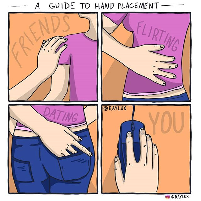 — A Guide to Hand Placement — . . . . . . . . . . . #raylux #heyraylux #rayluxcomics #comicstrip #comic #comics #draw #drawing #digitaldrawing #instacomics #illustration #design #humor #funny #comedy #hilarious #haha #sequential #sequentialart #sequentialarts #mograph #motiondesign #meaning #animation #webcomic #webcomics
