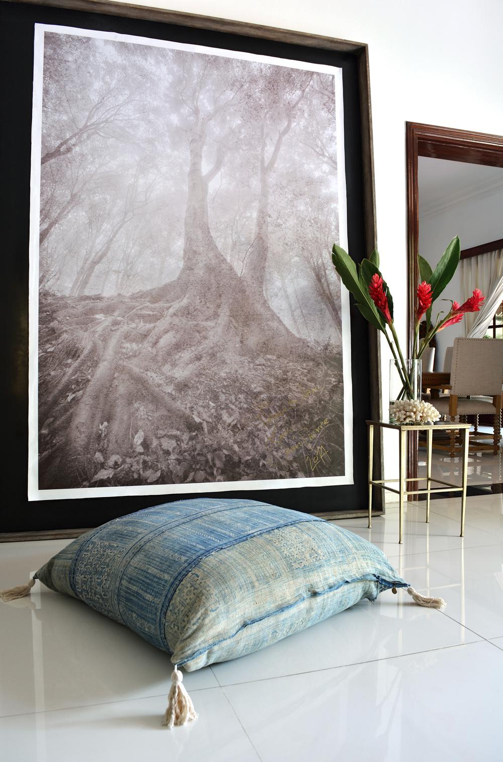 Lily Koi Vintage Indigo Floor Pillow .jpg
