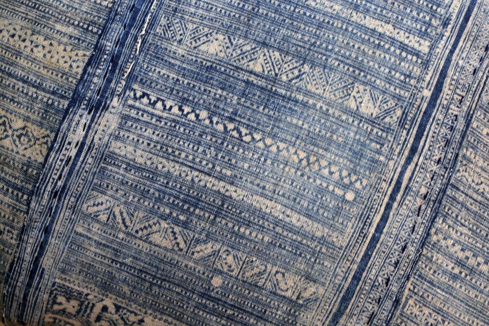 Lily Koi Vintage Indigo hemp batik 7.jpg