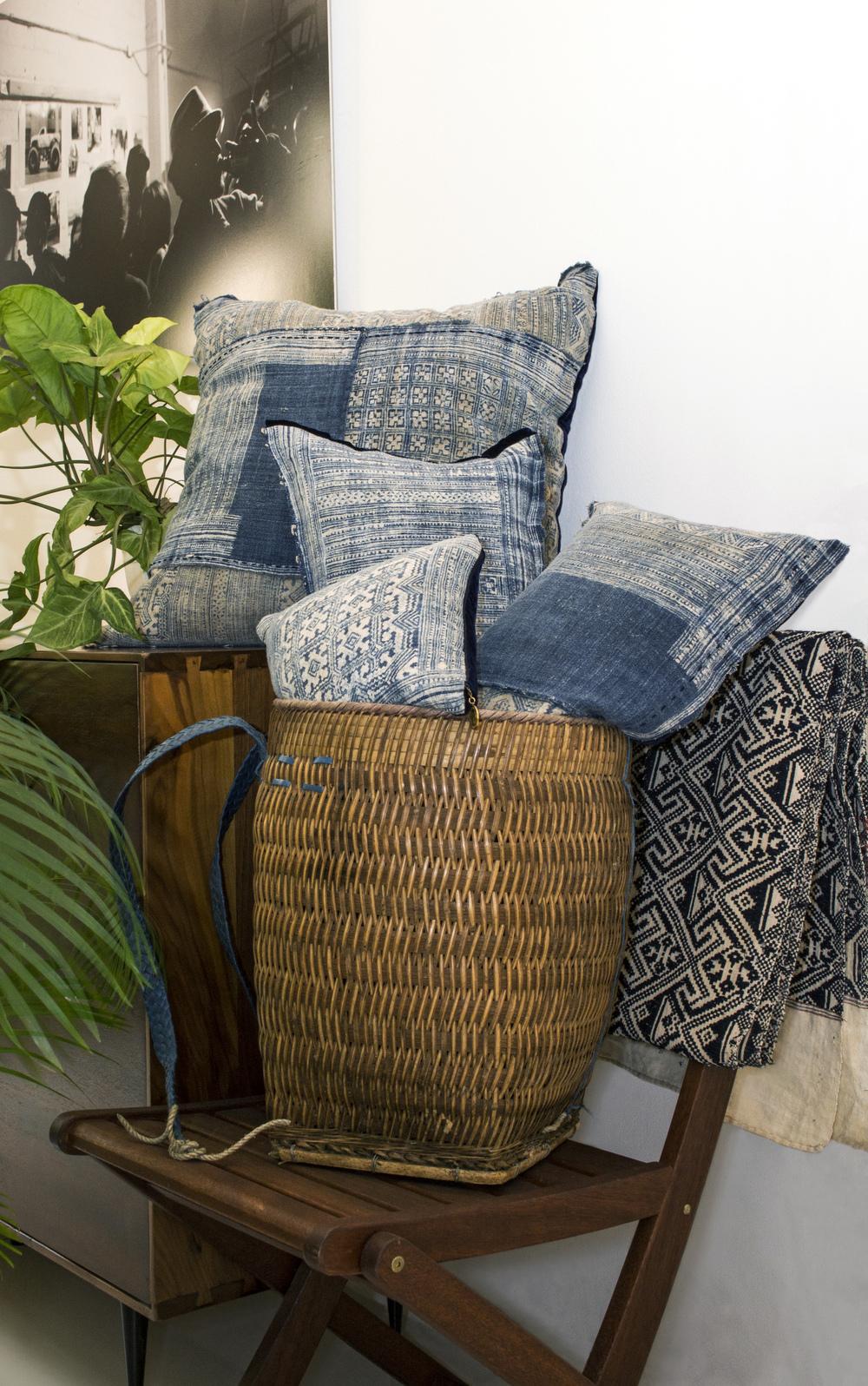 Lily Koi Vintage Indigo hemp batik 2.jpg