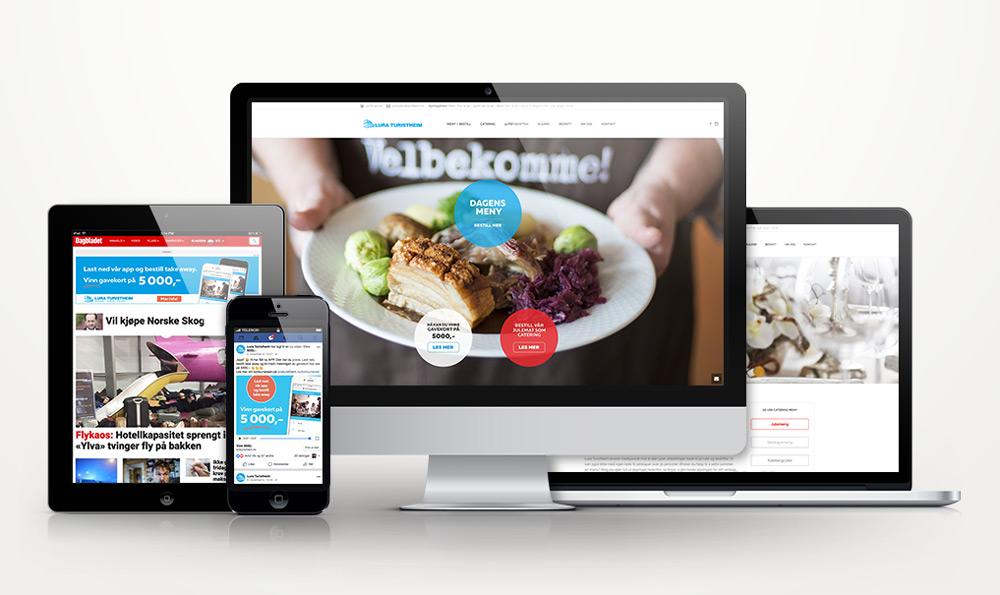Nettside, digitale annonser og film