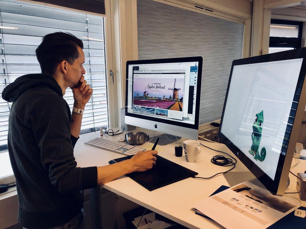 Anders instebø, digital rådgiver hos skarp, jobber for tiden for å tilpasse websider til nye krav om personopplysninger.