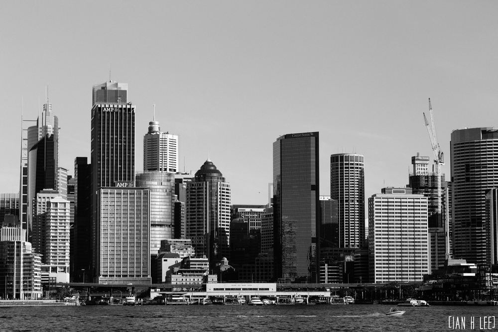[Ian H Lee] Photography || Travel - Sydney :: Circular Quay Overview BW.jpg